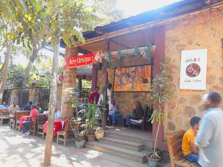 cafe in Bahar Dar in Ethiopia