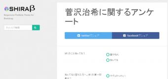 エゴサーチ過ぎる『菅沢治希に関するアンケート』がヤバい
